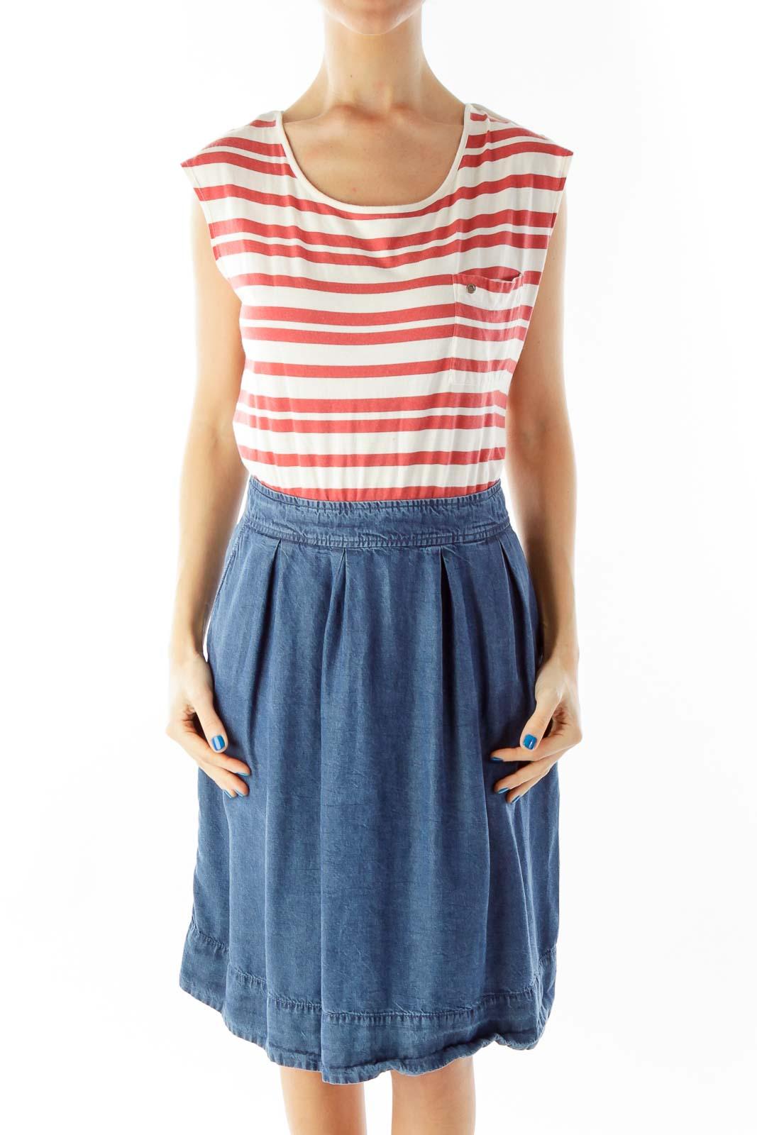 Red White Blue Striped Dress