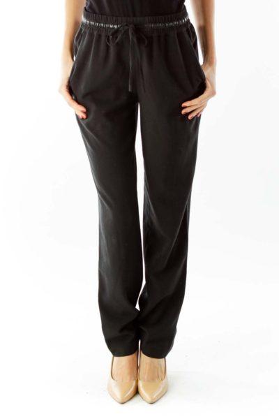 Black Drawstring Pants