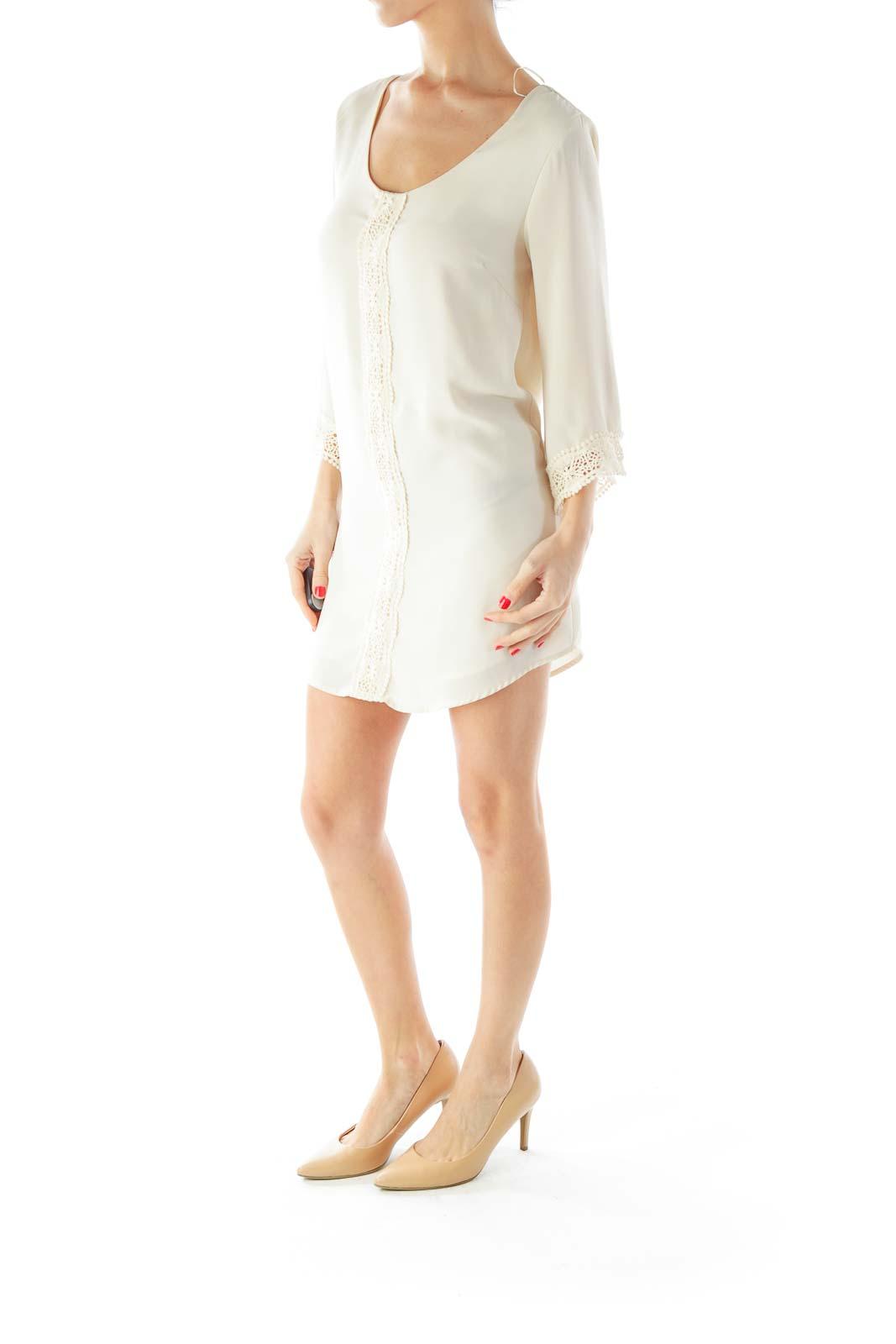 Cream Crochet Dress