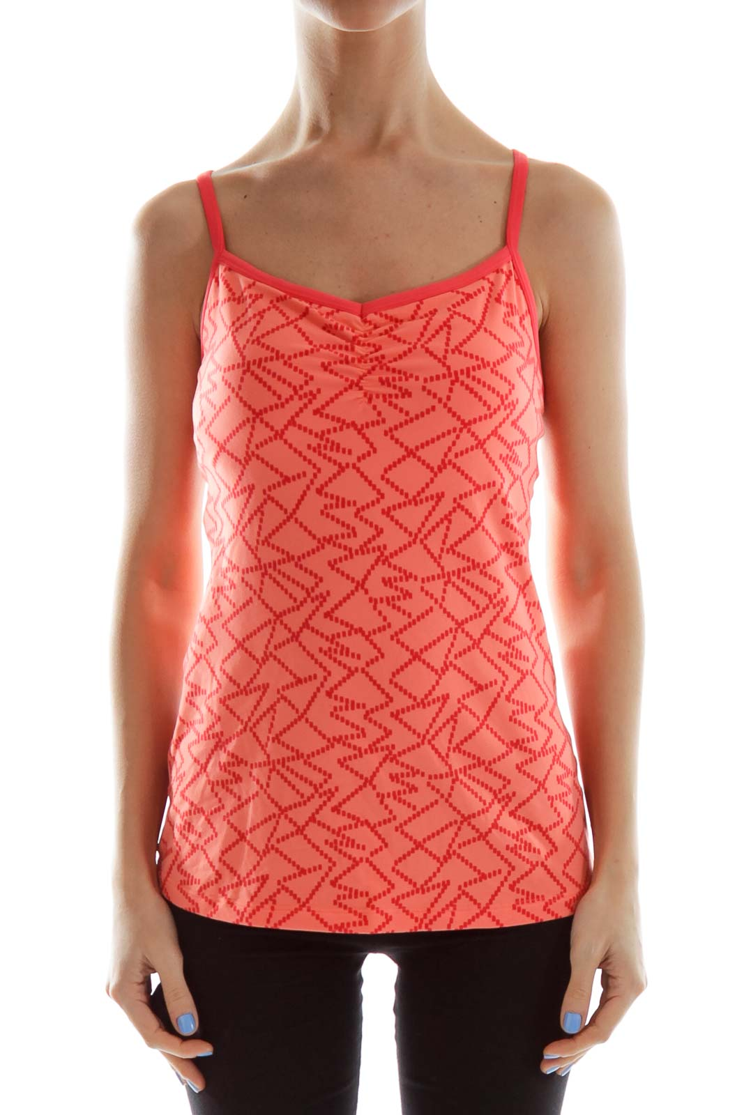 Orange Fitted Activewear Top