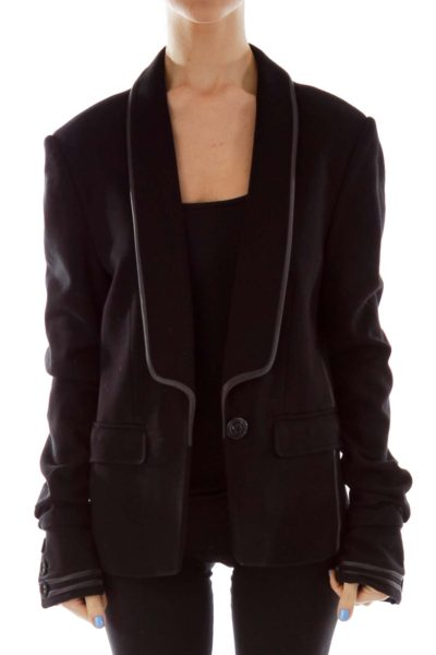Black Single Breasted Blazer