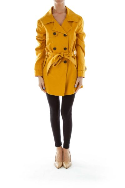 Mustard Yellow Trench Coat