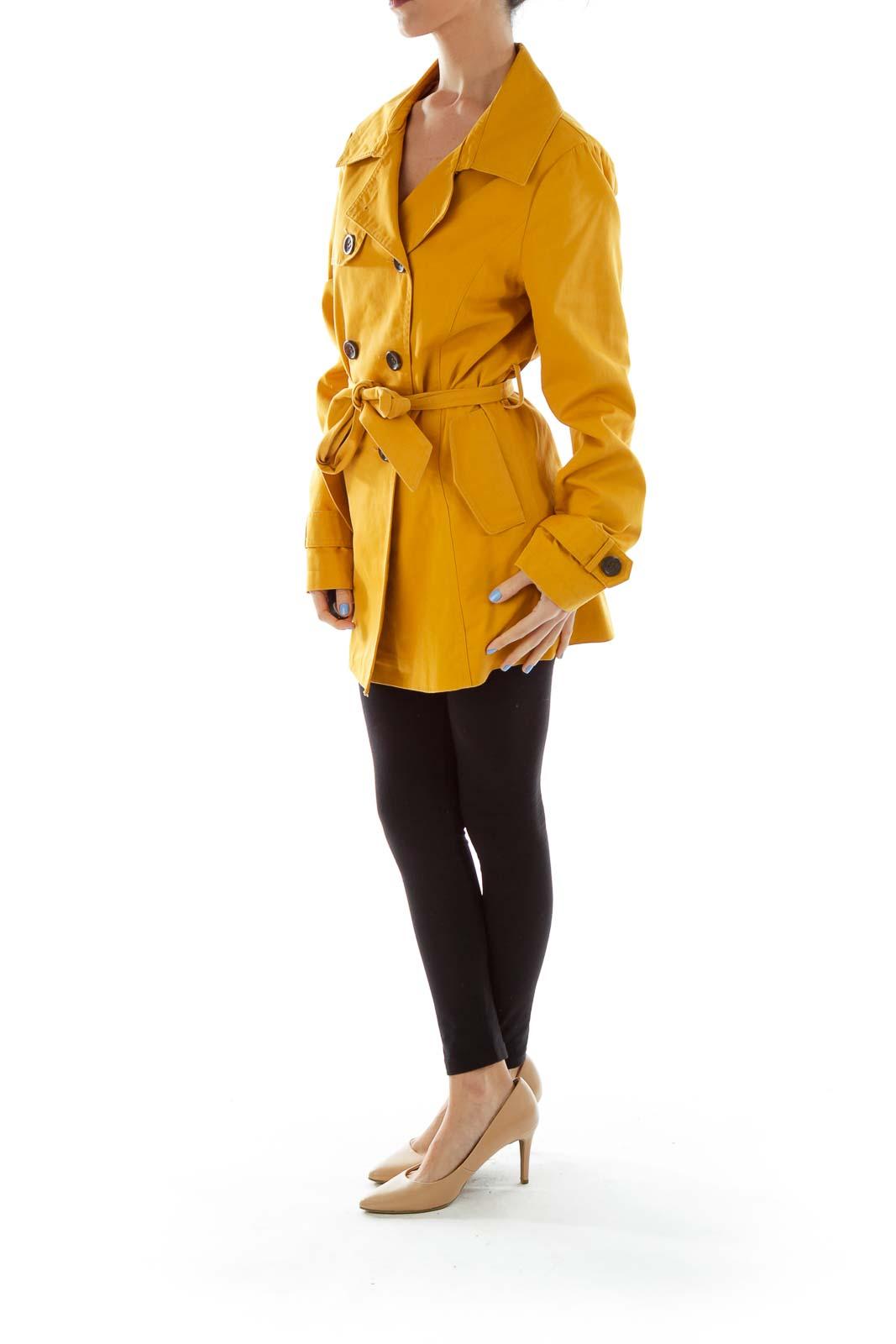 Mustard Yellow Trench Coat