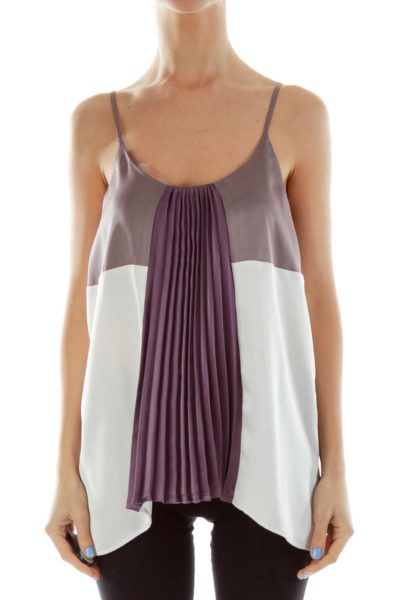 Beige Purple Cami