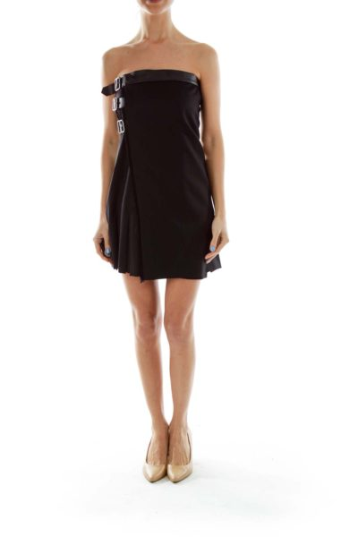 Black Belted Cocktail Dress