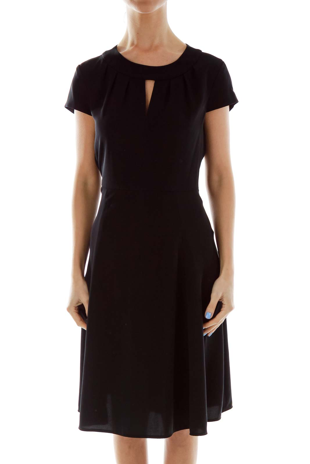 Black Fitted Work Dress