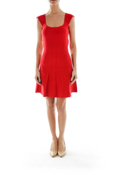 Red Flared Cocktail Dress