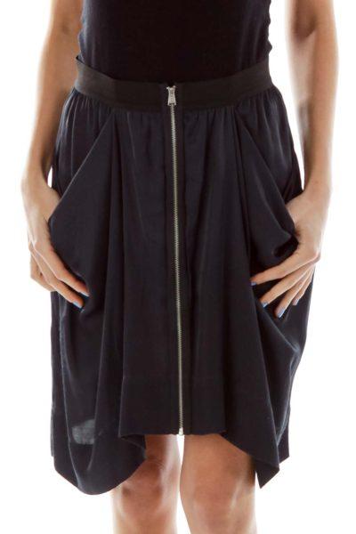 Black Pocketed Skirt