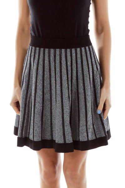 Gray Flared Skirt
