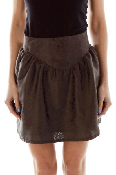 Brown Mini Skirt