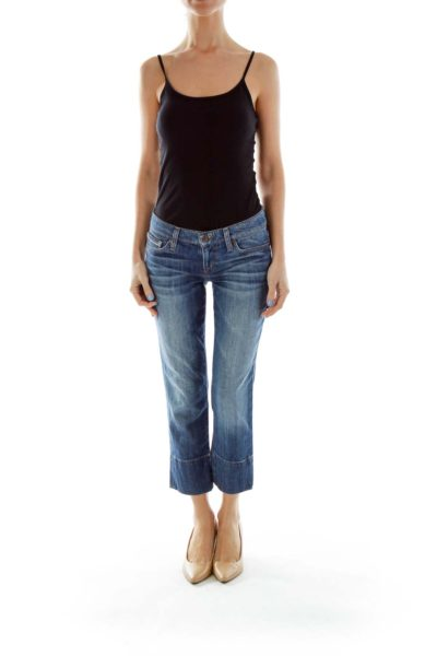 Blue Cropped Jeans