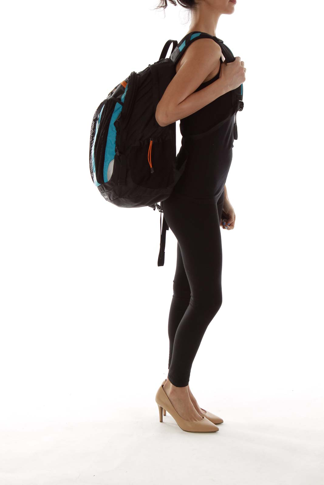 Black Blue Backpack