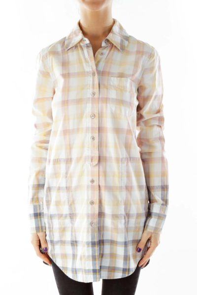 Multicolor Plaid Long Shirt