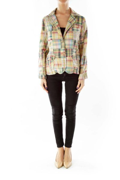Multicolor Plaid Blazer