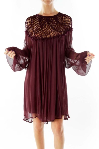 Purple Boho Day Dress
