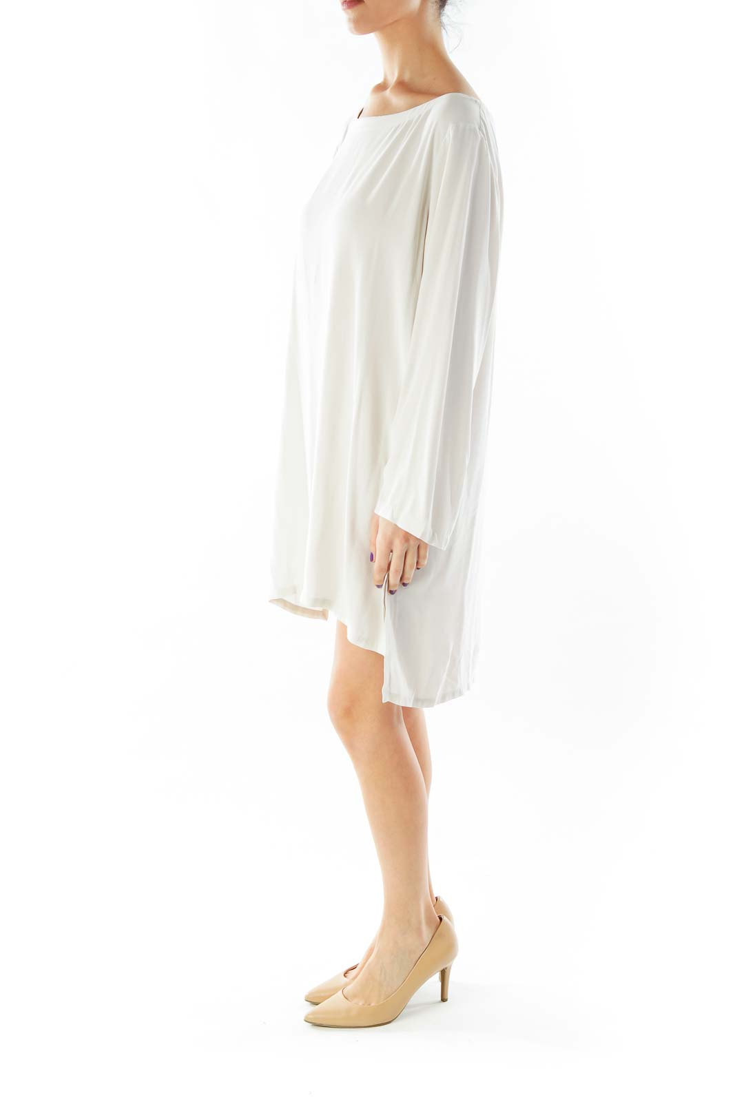 Beige Round-neck Tunic