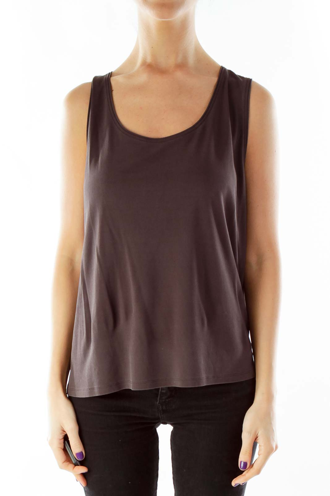 Brown Loose Tank Top
