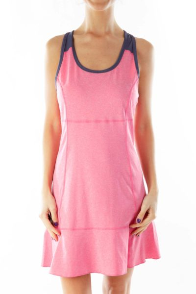 Pink Blue Tennis Dress