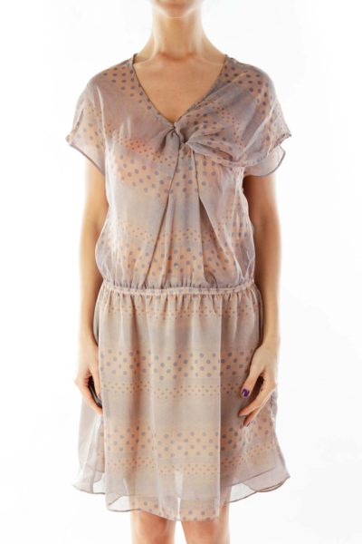 Purple Polka-Dot Day Dress