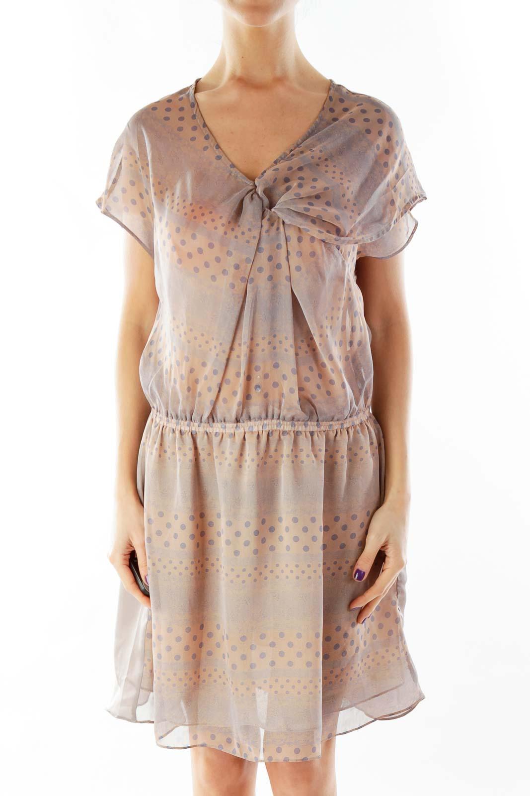 Purple Polka-Dot Day Dress