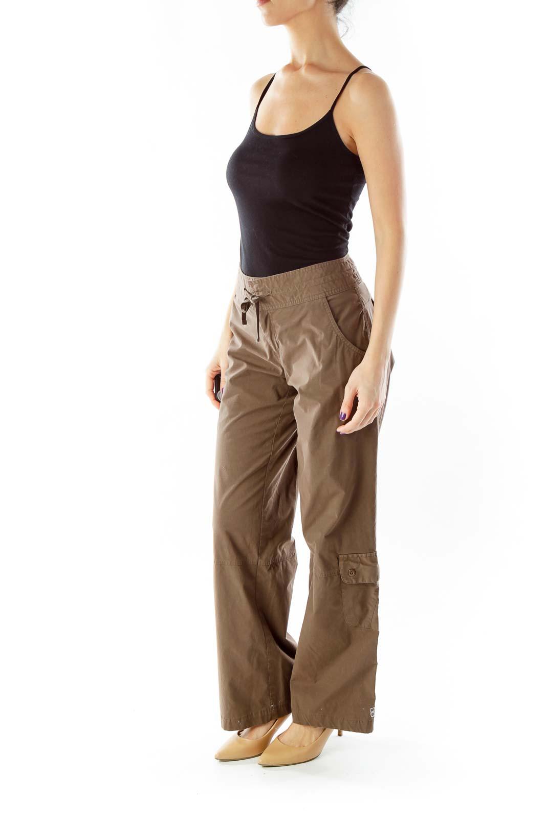 Brown Drawstring Cargo Pants