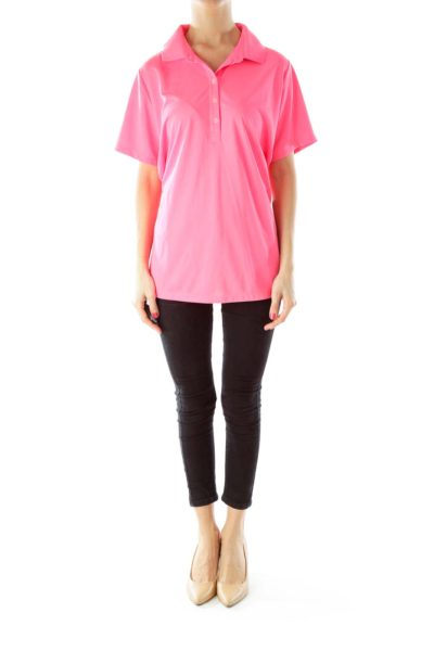 Hot Pink Golf Polo T-Shirt