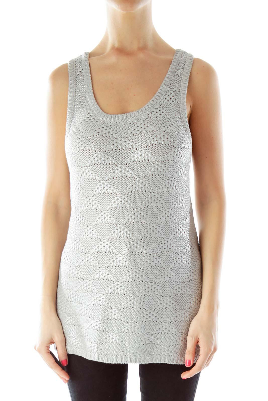 Silver Metallic Knit
