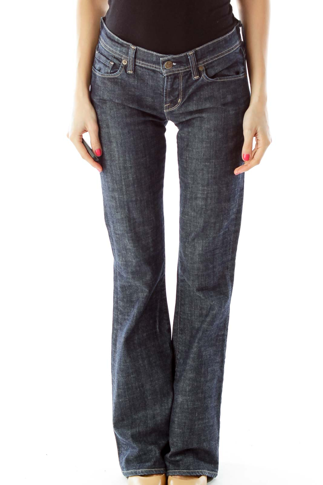 Blue Flared Jeans