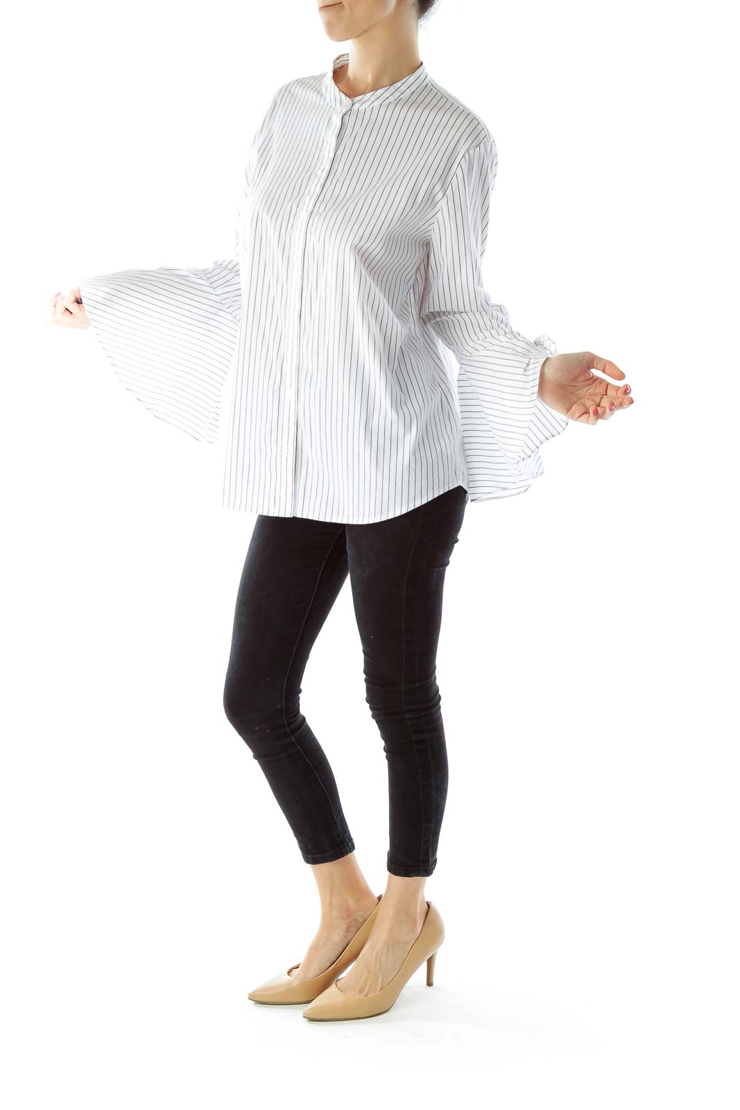 Black White Pinstripe Shirt