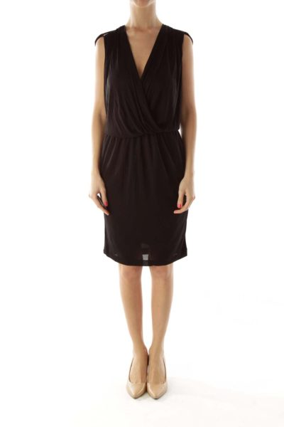 Black Zippered Cocktail Dress