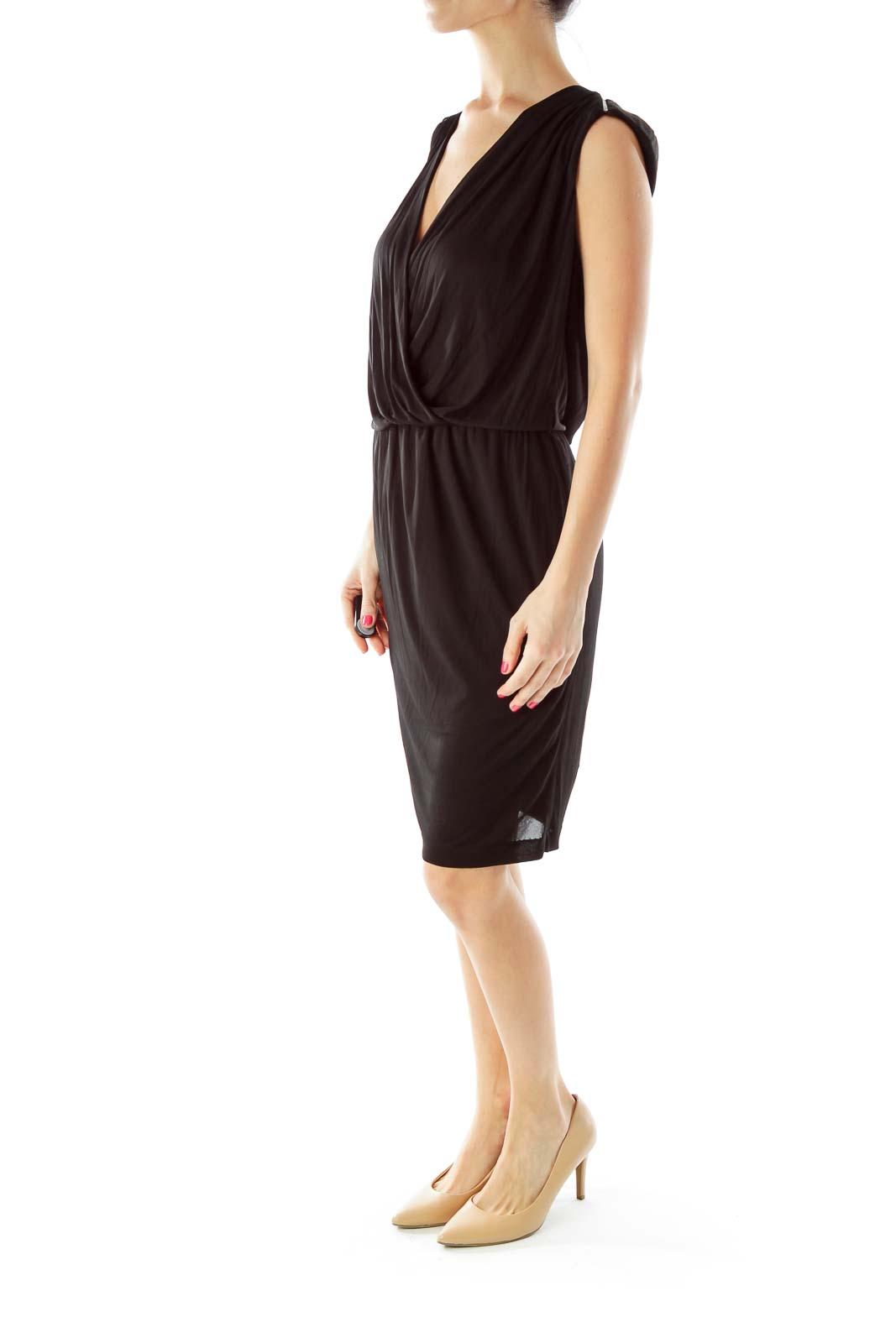 Black Zippered Cocktail Dress