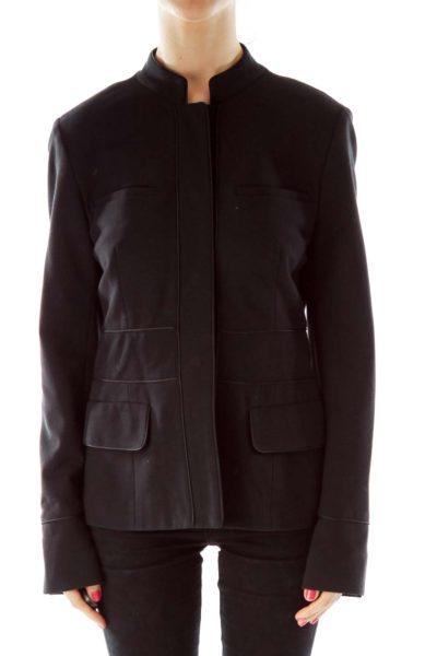 Black Pocketed Blazer