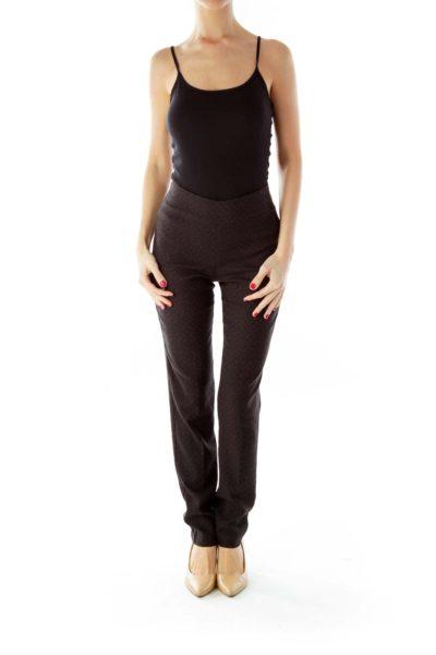 Black Textured Leggings