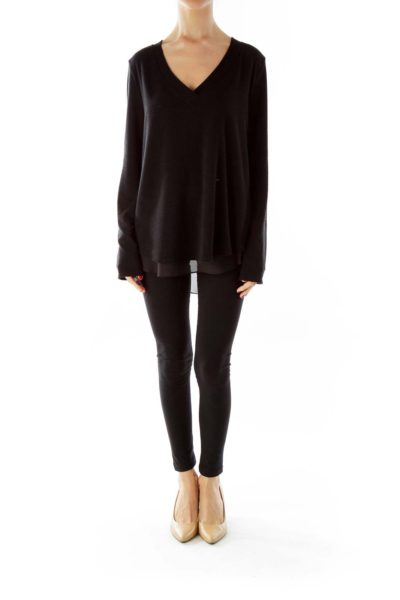 Black Knit with Sheer Lining