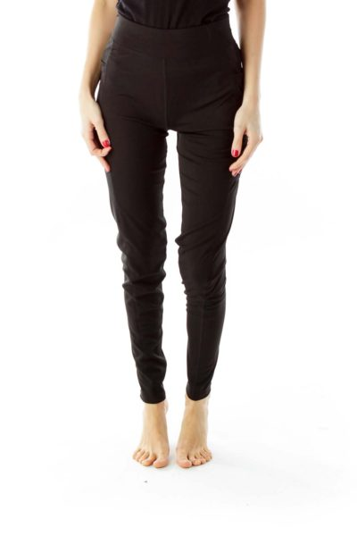 Black Pocketed Yoga Pants