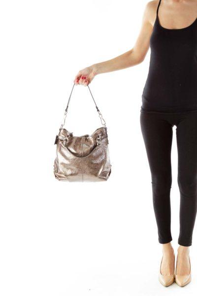 Gold Sparkle Shoulder Bag