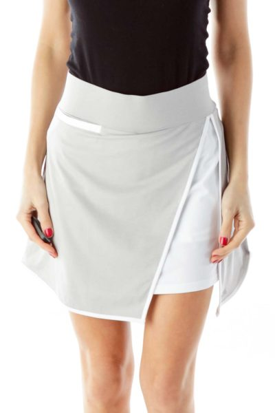 Gray Athletic Skirt with Pockets