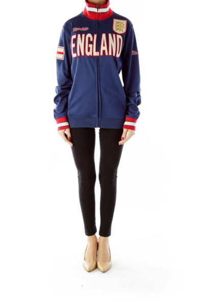 Blue Red England Jacket