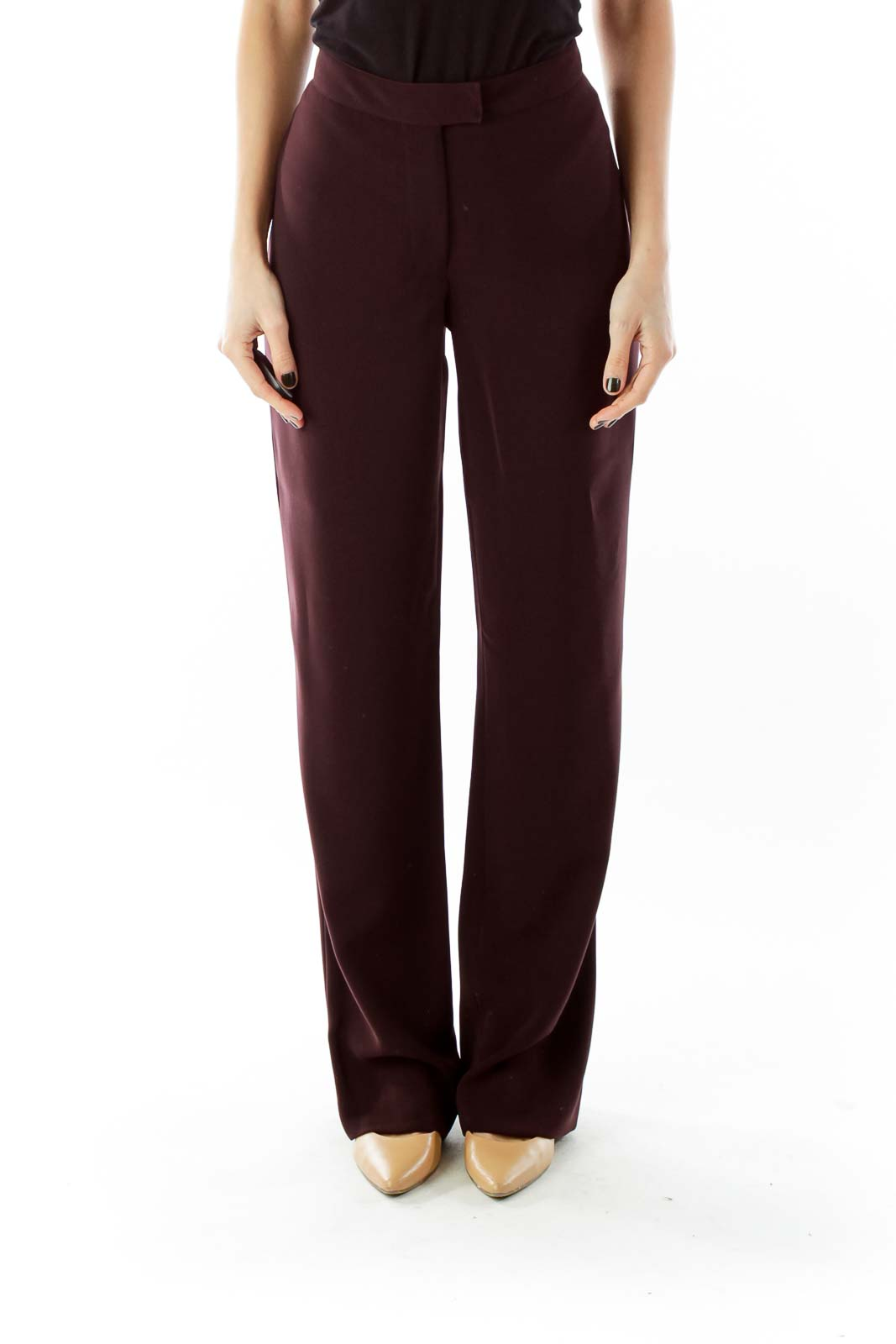 Purple High Waisted Suit Pants