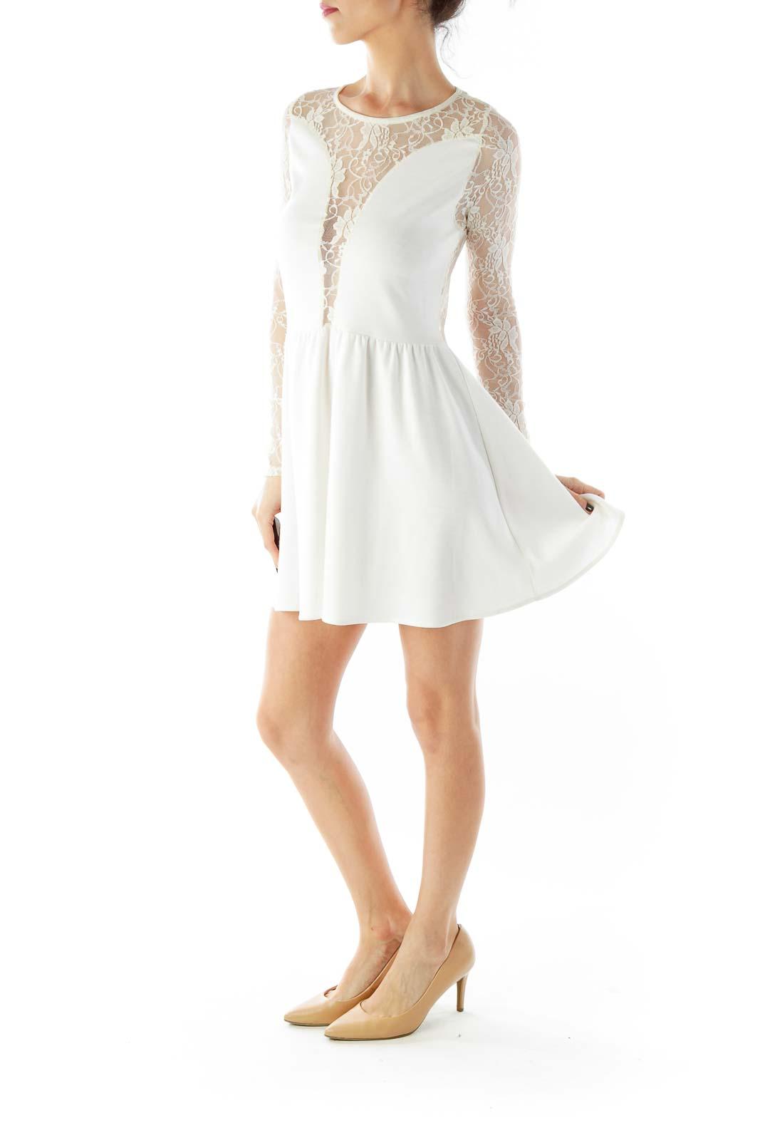 Cream Lace Day Dress