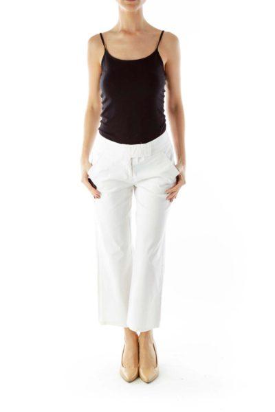White High-Waisted Pants