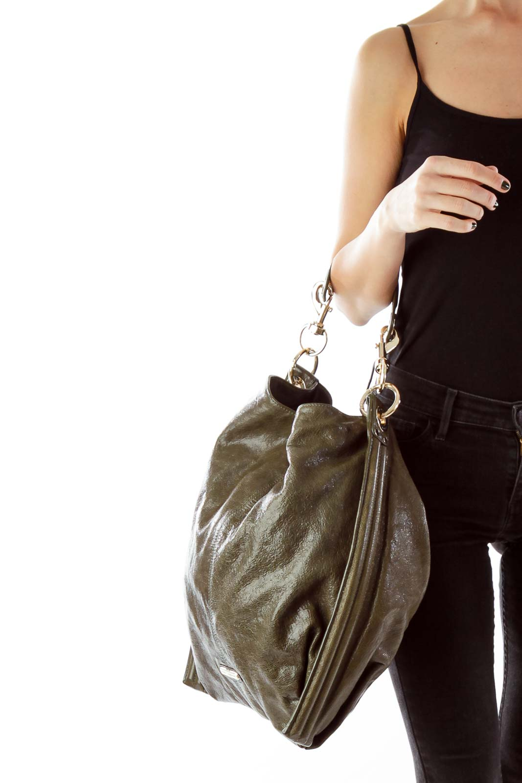 Green Metallic Shoulder Bag