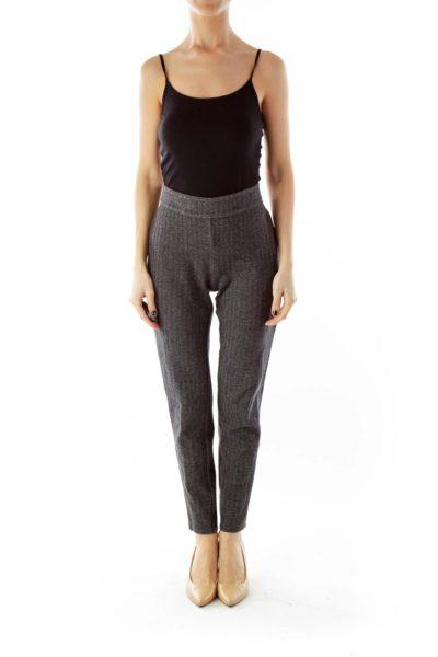 Gray Tweed Pencil Pants