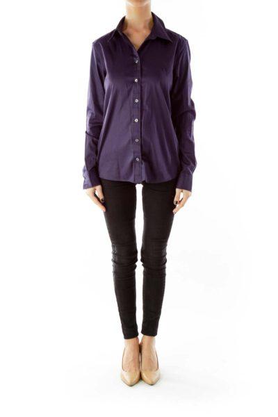 Purple Buttoned-Down Shirt