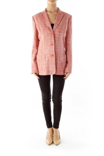 Pink Tweed Blazer