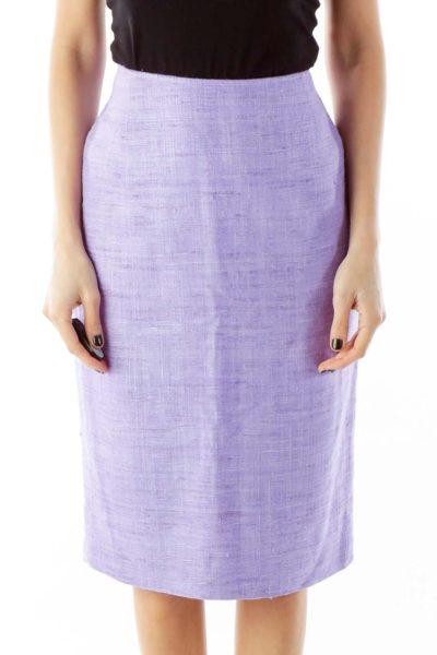 Purple Mottled Pencil Skirt