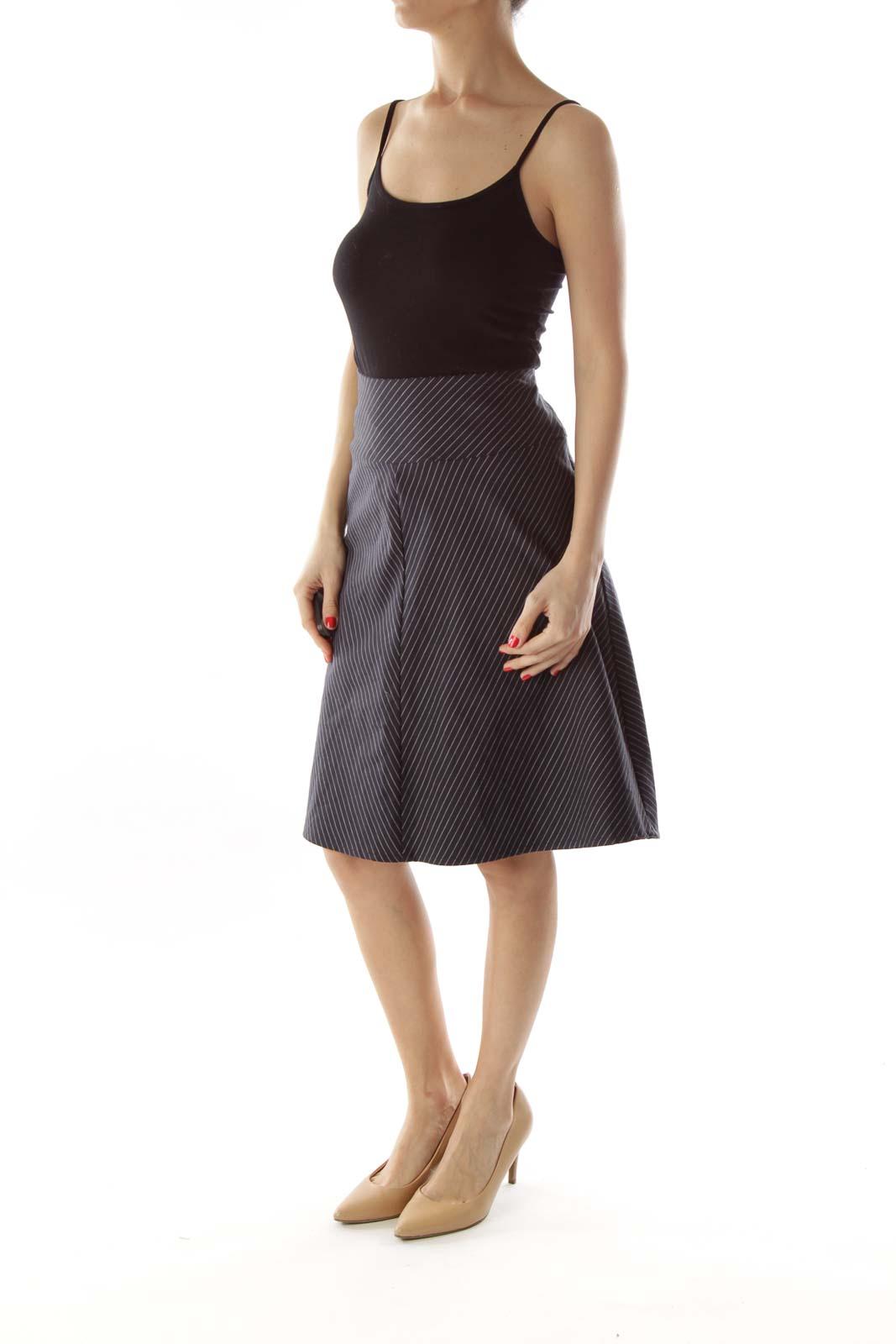 Black & White Pinstripe Skirt