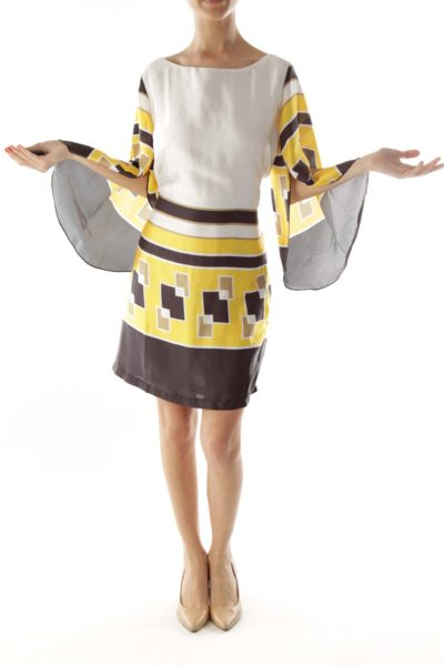 Multicolor Greek Key Dress