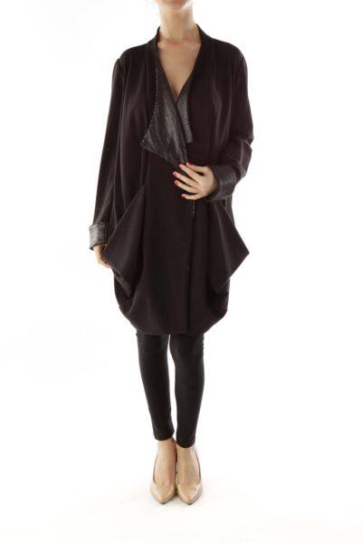Black Sequined Oversized Blazer
