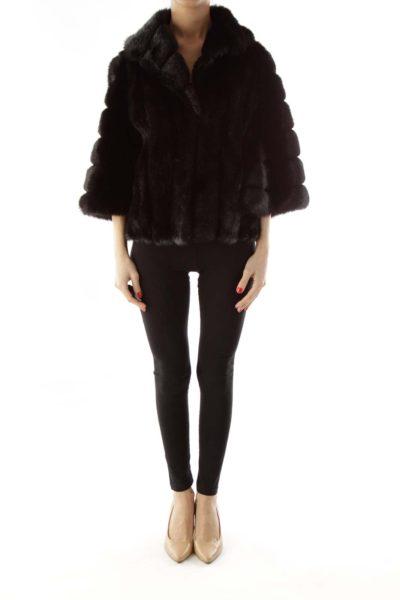 Black Faux-Fur Jacket